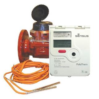 Лічильник тепла PolluTherm із фланцевим витратоміром WPD FS Ду 50-150 мм