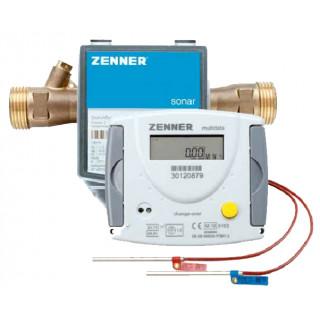Ультразвуковой счетчик тепла Zenner Multidata WR3, муфтовый